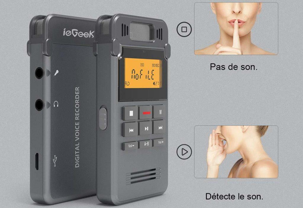 Dictaphone ieGeek 8 Go Avis et Test